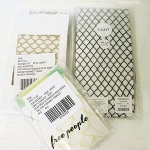 NWT FREE PEOPLE FISHNET TIGHTS & ANKLETS O/S